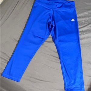 Royal Blue Adidas workout legging capri